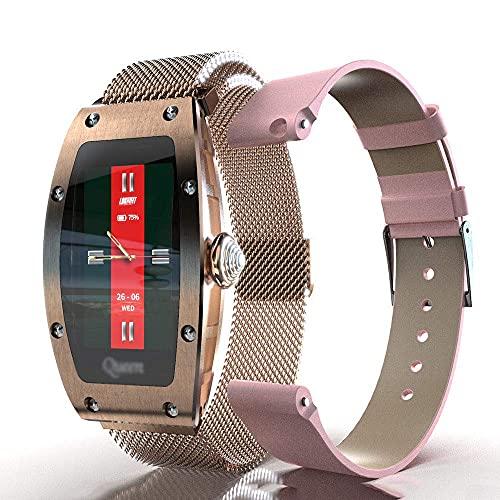 Mire el Metal Smart con el Monitor de sueño de Ritmo cardíaco y 9 Modos de Ejercicio, el podómetro de Fitness, Hombres y Mujeres, IP67 Impermeable