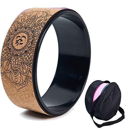 Ruota da yoga in sughero, accessorio naturale e confortevole per dharma pilates e per...