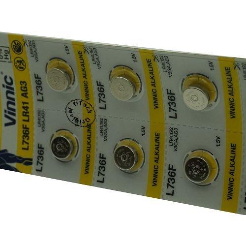Otech Pack de 10 Batteries Vinnic für VINNIC L736F
