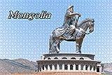 GIRDSS 1000 Piezas Jigsaw Mini Puzzles de Estatua de la Estatua de Genghis Khan Ulaanbaatar Mongolia Regalo para niño Juego de Rompecabezas