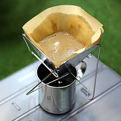 FECAMOS 304 stal nierdzewna na zewnątrz kemping kawa ociekacz stojak na kawę, do ekspresów do kawy dla kamperów, ekspresów do kawy, kempingowych ekspresów do kawy, do większości kubków