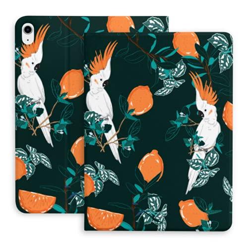 Funda para iPad Air 4ta generación de Color Verde Oscuro con Estampado de Bosque Parrot Bird Fit Funda para iPad Air 4 (10,9 Pulgadas, 2020) / Apta para iPad Pro 11'2018 con portalápices, Estuche in