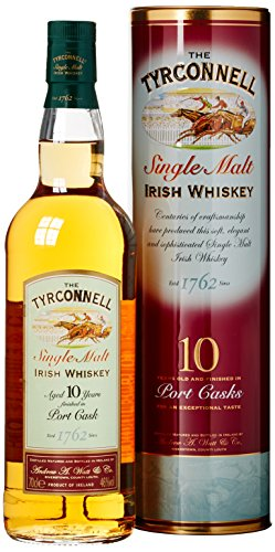 The Tyrconnell 10 Jahre Port Finish Single Malt Irish Whiskey, mit Geschenkverpackung, 46%Vol, 1 x 0,7l