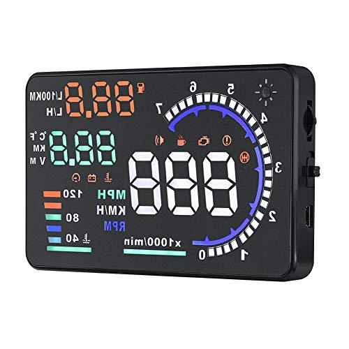 Aggiornamento Head Up Display, A8 5.5 '' OBD II Car HUD Head Up Display, Display velocità schermo riflettente automatico antivento