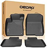 oEdRo Floor Mats Compatible for 2018-2020 Honda Accord, Unique Black TPE All-Weather Guard Includes...