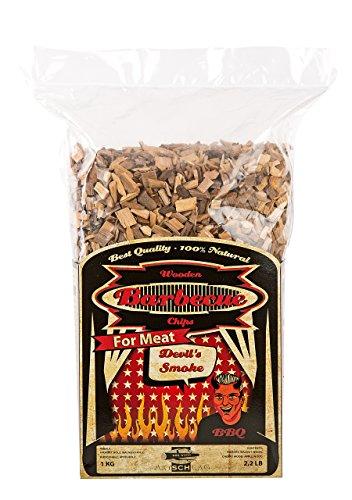 Axtschlag Räucherchips Devil's Smoke, 1000 Gramm sortenreine Räucherspäne für besondere Rauch- und Geschmackserlebnisse, für alle Grills