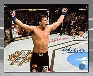 Lyoto Machida UFC Autographed Fight Knockout 8x10 Photo - Autographed UFC Photos
