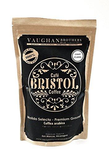 Bristol Coffee Light Roast Ground Coffee - Single Origin Premium Specialty - Highest Quality Nicaraguan Coffee - Pure Arabica - Sustainably Grown - Non-GMO - (12.61 Ounce Ground Coffee)