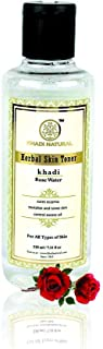 Khadi Natural Rose Water Herbal Skin Toner, 210ml
