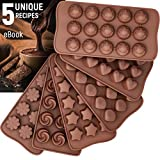 Silicone Candy Molds + 5 Recipes eBook - Easy to Use & Clean Chocolate Molds - Silicone Mo...