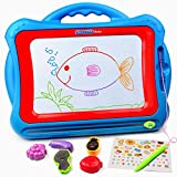 Tomons Magnetic Drawing Board Toy,15.75 Inch Doodle Board with Multi-Colors Drawing Screens, Erasable