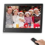 BSIMB WiFi Digital Picture Frame 8 Inch Digital Photo Frame 16GB 1280x800 IPS Screen Motion Sensor Remote Control Upload Photos/Videos from iPhone & Android App/Twitter/Facebook/Email W08