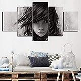 NC83 Cuadros en Lienzo 5 Piezas Pinturas Lightning Returns minimalismo Arte de Pared Impresiones póster Ho 150X80cm