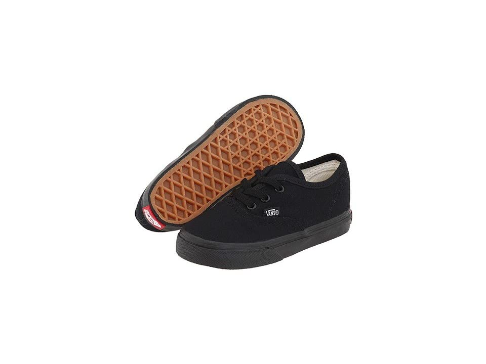Vans Kids Authentic Core (Toddler) (Black/Black) Kids Shoes