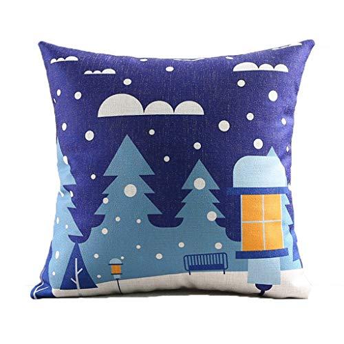 Comfortabel kerstkussen, blauw, hug kantoor, hoofdkussen, slaapkamer, nachtkastje, sofa, auto, airconditioning, glasplaat, decoratie, zacht.