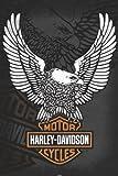 Harley Davidson - Eagle- Poster Drucken (60,96 x 91,44 cm)