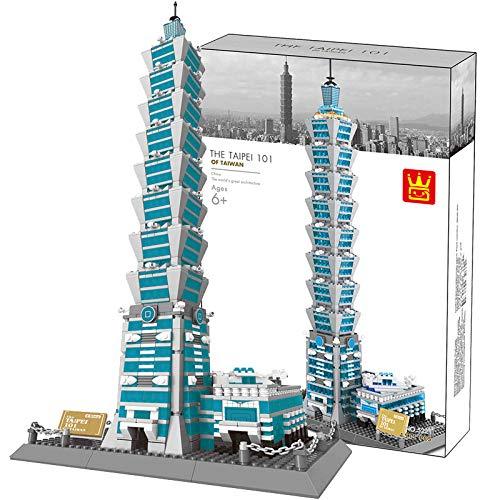 LYing Modelo Tridimensional De Bricolaje Puzzle De Taipei 101 Construcción, Alta Dificultad Partículas Pequeñas Ocio Puzzle De Bloques De Construcción