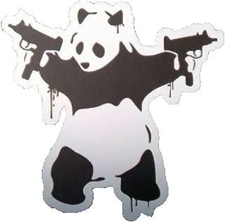 Panda with Uzi Guns Vinyl Decal /2.75