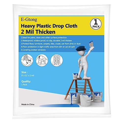 E-Gtong 1-Pack 2 Mil Plastic Dro...
