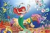 Fanxp Puzzle de madera de La Sirenita de 1000 piezas de juguete de madera con dibujos animados, para adultos y niños