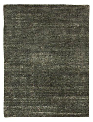 Morgenland Gabbeh Loribaft Teppich Grau Einfarbig Uni Schurwolle Handgewebt 60 x 40 cm Fußmatte
