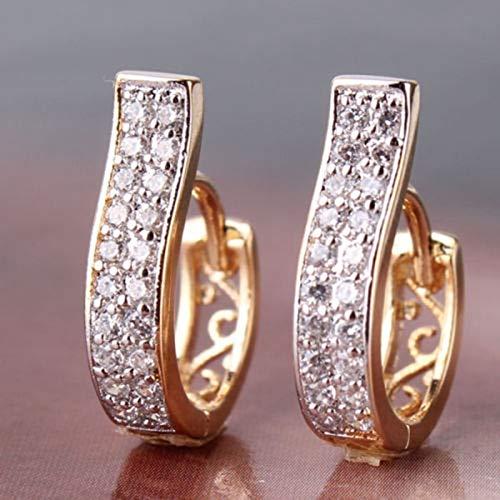 Arete 2 Unids / Set De Pendientes Bonitos De Acero Inoxidable De Color Oro Rosa Elegante Para Mujer, Pendientes Para Niñas, Joyería