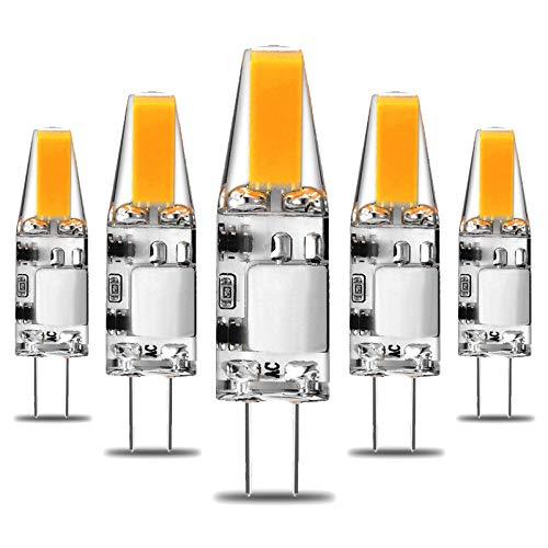 Lámparas LED G4 Blanco natural 4000K 3W 300Lm Reemplazo para lámparas halógenas de 30W AC/DC 12V, Lámpara de base de doble clavija de 360 grados Bombillas LED Sin parpadeo No regulable, Bombilla