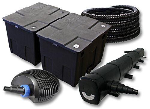 SunSun Filter Set für 60000l Teich mit 72W Teichklärer und 40W ECO Pumpe 25m Schlauch