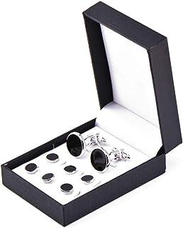 Zealmer 316L Stainless Steel Cufflinks Shirt Studs Business Wedding Gifts for Men