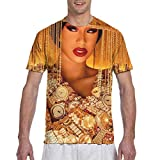 Cardi B Shirt Men Women Fashion 3D Print Pattern Short Sleeve T-Shirt Black