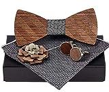 BeForBio Handgefertigte Holzfliege - Trendy und modern - Mode Accessoire und ideales Geschenk -...