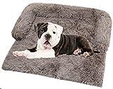 DHGTEP Cama Impermeable para Perros para Proteger el Sofá, Viajar, Cubrir el Asiento del Coche, Cama Anti Ansiedad para Perros Grandes y Medianos, Mejora el Sueño y el Alivio Ortopédico
