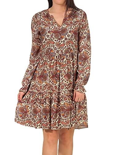 Hailys Damen Viskose Kleid Esther LC-01659-69 Diverse (braun) S