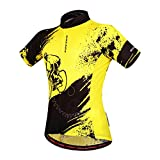 WOSAWE Mens Breathable Cycling Jersey Short Sleeves (Biker Jersey, XXL)