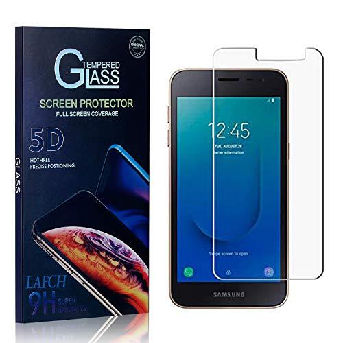 LAFCH Display Schutzfolie Kompatibel mit Galaxy J2 Core, 2 Stück Ultra Klar Abdeckung Gehärtetem Glas Panzerglas Schutzfolie für Samsung Galaxy J2 Core, 9H Härte, Anti-Kratzer