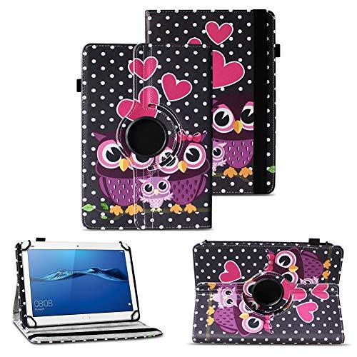 NAUC Tablet Tasche kompatibel für Huawei Mediapad X2 Hülle Schutzhülle Cover Schutz Hülle Drehbar, Farben:Motiv 6