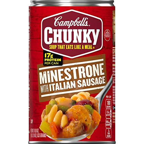 12-Pack 18.8oz Campbell's Chunky Soup (Minestrone with Italian Sausage)  $16 at Amazon
