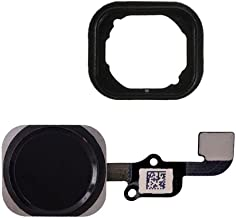 FirefixTM for Iphone 6 and 6 Plus Home button with flex cable and Rubber Gasket assembly (Black)