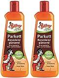 Poliboy - Parkett Renovierer glänzend - für Holz- und Korkböden - Sofort Versiegelung - Bodenreinigung - 2er Pack - 2x500ml (1 Liter) - Made in Germany