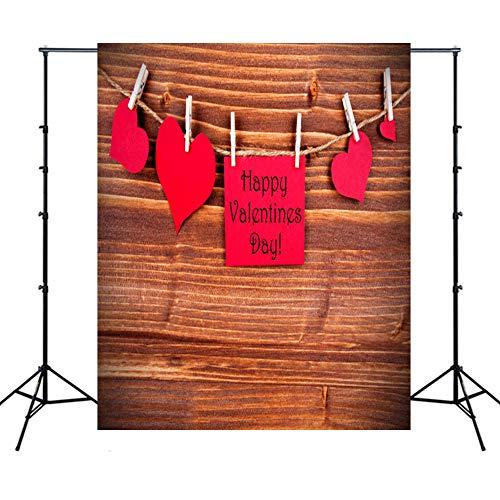 WQYRLJ 3D-fotografie achtergrond, kaars open haard heart shaped roos bloemen muur foto studio achtergrond props voor Valentijnsdag bruiloft 5x7ft D