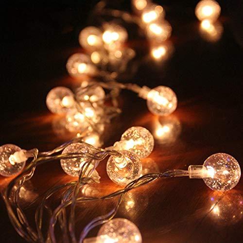 Les lantaarn lichtsnoer, waterdicht, led-snoer fee, voor buiten, kleurrijk nachtlampje, licht voor bruiloft, met snoer, warmwit, 6 m, 40 lichtstekkers