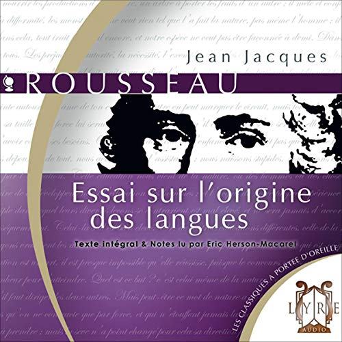 Essai sur l'origine des langues audiobook cover art