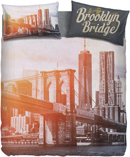 Bassetti Drap East River simple (dessus Drap 160 x 280 + 1 drap-housse 90 x 200 + 1 taie d'oreiller 50 x 80)