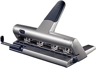 Leitz AKTO Perforatrice Regolabile a Punzoni Indipendenti, Capacità fino a 30 fogli, Argento, Metallo, Fino a 6 Fori,5114...