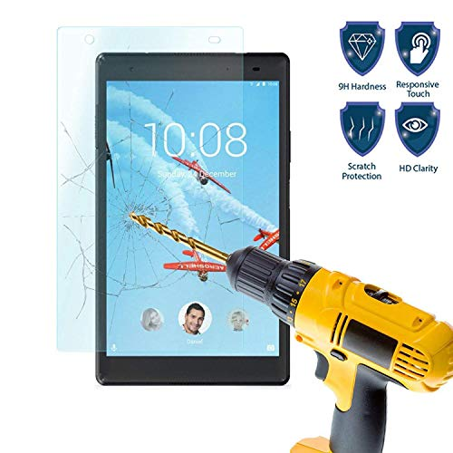 Lenovo Tab 4 8 Plus Screen Protector - Tempered Glass Screen Protector Guard Cover Film (High Definition) (Bubble Free) for Lenovo Tab 4 8 Plus