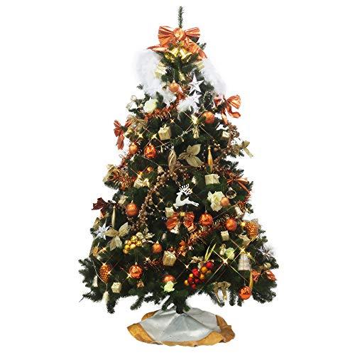 クリスマスツリー おしゃれ 北欧 300cm 高級 コンチネンタルツリー LED付き オーナメントセット ツリー ワイド ornament Xmas tree daydream 2(キャラメル)