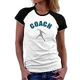 Teeburon Handball Coach - T-Shirt Raglan Femme