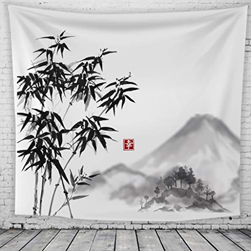 GT-Tapices Tinta Pintura Tapiz Ciruelo Japonés Impresión 3D Lona Tapicería Manta de la Pared Salón Dormitorio Decoración Tela Fondo Toalla de Playa (Color : E, Size : 130 * 150cm)