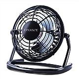 E-PRANCE Mini Ventilateur USB de Bureau silencieux Portable Mini Fan 4' 360°Compatible pour PC ordinateur portable Noir