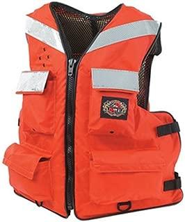 STEARNS Floatation Vest, Orange, Nylon, Large